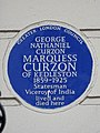 GEORGE NATHANIEL CURZON MARQUESS CURZON OF KEDLESTON 1859-1925 Statesman Viceroy of India lived and died here.jpg