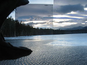 Graduated neutral-density filter - The same image with a GND-like effect applied to the right side of the image using a computer. While the overall effect is similar, regions of the image that were washed out are not recovered.