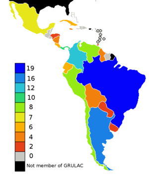 United Nations Regional Groups - Image: GRULAC years 2010