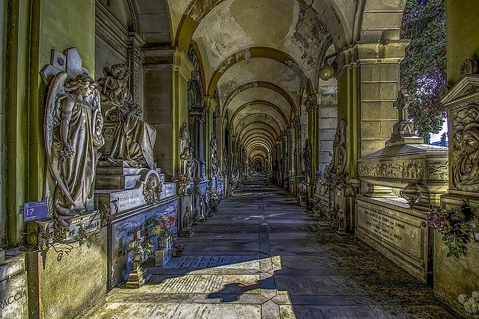 Galleria lato destro Cimitero di Staglieno.jpg