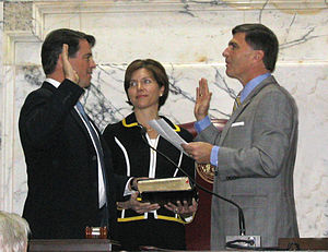 Doug Gansler - Douglas F. Gansler being sworn in as Maryland Attorney General, January 2, 2007.