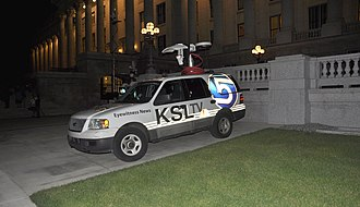 KSL-TV - KSL ENG SUV at the Utah State Capitol.