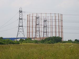 Edmonton, London - Edmonton gasworks seen from Tottenham Marshes