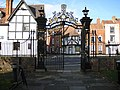 Gated entrance-exit, Tewkesbury Abbey - geograph.org.uk - 1037428.jpg