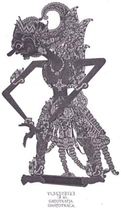Gatotkaca sebagai tokoh wayang kulit Jawa