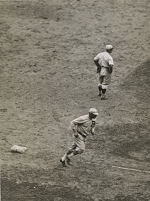 Gavvy Cravath - Cravath rounding third after hitting a home run, 1919–1920.