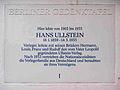 Gedenktafel Bettinastraße 4 (Grunew) Hans Ullstein.jpg