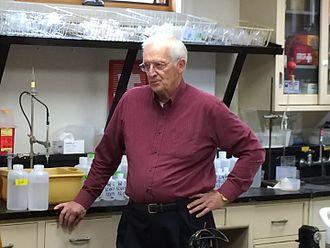 Hubbard Brook Experimental Forest - Gene Likens in the laboratory, 2015