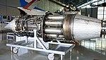 General Electric J47-GE-27 turbojet engine left rear view at Hamamatsu Air Base Publication Center November 24, 2014.jpg