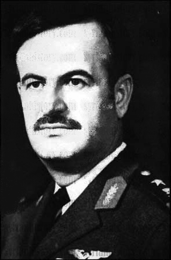 General Hafez al-Assad (1930-2000), the new president of Syria in November 1970