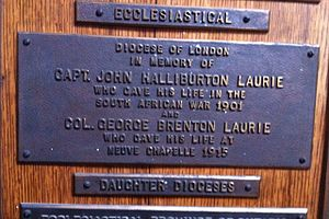 St. Paul's Church (Halifax) - John Wimburn Laurie's sons(plaque)