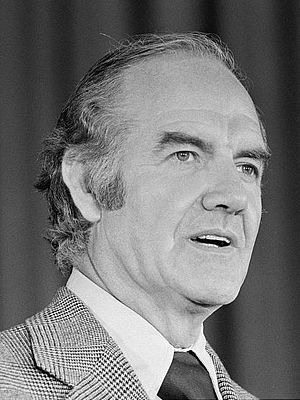United States presidential election in Wyoming, 1972 - Image: George Mc Govern, c 1972 (3x 4)