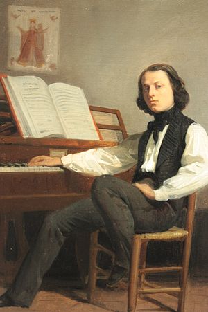 Isidore Pils - French composer Georges Bousquet (1818-1854); portrait by Pils (1841)