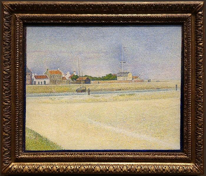 File:Georges seurat, il canale di graveline, grand fort-philippe, 1890.jpg