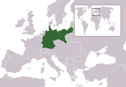 Territory of the German Empire in 1914, prior to World War I