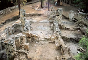 Gialia Monastery - Image: Ghalia Monastery Main church after archaeological excavations