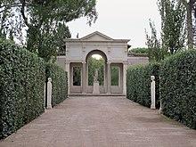 Vue du jardin de la villa m dicis rome pavillon de for Jardin villa medicis rome