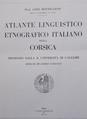 Gino Bottiglioni, Atlante Linguistico Etnografico Italiano della Corsica, frontespizio.png