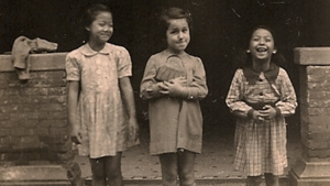 Shanghai Jewish Refugees Museum - A Jewish girl and her Chinese friends in the Shanghai Ghetto, from the collection of the Shanghai Jewish Refugees Museum