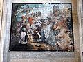 Gisors (27), collégiale St-Gervais-et-St-Protais, 5e chapelle du nord, peinture murale - Christ portant la croix et sainte Véro.jpg