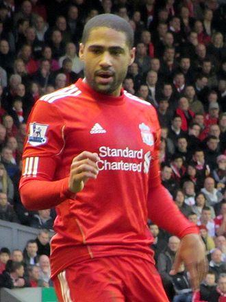 Glen Johnson - Johnson playing for Liverpool in 2011