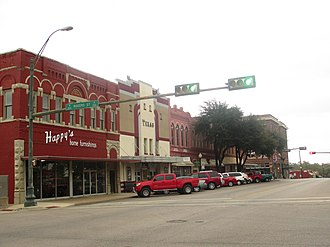 Waxahachie, Texas - A glimpse of downtown Waxahachie across from the courthouse