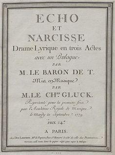 <i>Echo et Narcisse</i> opera