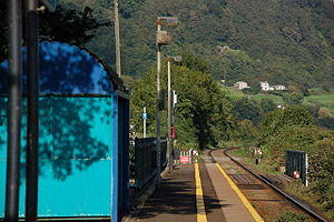 Glynn railway station - Glynn halt in 2006