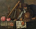 Godfriedt van Bochoutt - Still life with books, music, recorder and two roses.jpg
