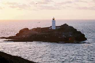 To the Lighthouse - Godrevy Lighthouse at sunset