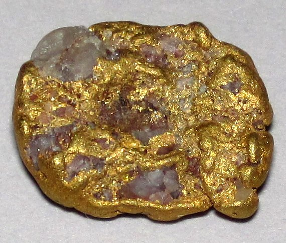 Gold-quartz placer nugget, Lead SD