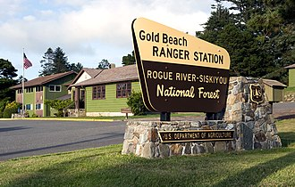 National Register of Historic Places listings in Curry County, Oregon - Image: Gold beach ranger station photo by noehill
