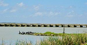 Goolwa Barrages - Goolwa Barrage looking towards Hindmarsh Island