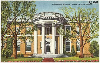 New Mexico Governor's Mansion - The Governor's Residence from 1870 to 1940