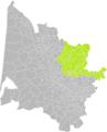 Grézillac (Gironde) dans son Arrondissement.png