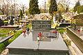 Grób pisarza Tadeusza Chróścielewskiego na cmentarzu na Radogoszczu w Łodzi.JPG