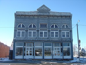 Gove County, Kansas - Image: Grainfieldoperahouse