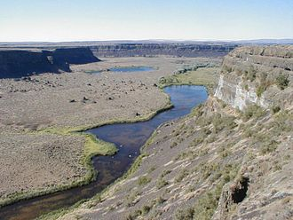 Grand Coulee - Image: Grand coulee below dry falls