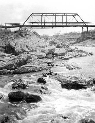 Grandfalls, Texas - Bridge across Pecos River near Grandfalls in 1910