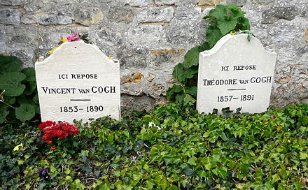 Vincent and Theo's graves at Auvers-sur-Oise Cemetery