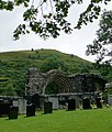 Graveyard and abbey arch at Strata Florida, Ceredigion - geograph.org.uk - 2003822.jpg
