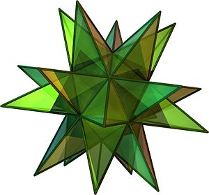 Three-dimensional space - Image: Great Stellated Dodecahedron