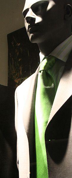 krawat zielony