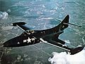 Grumman F9F-2 Panther in flight c1949.jpg