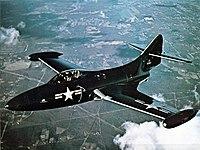 Grumman F9F-2 Panther in flight c1949.jpg