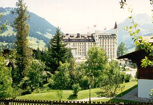 Saanen - Gstaad Palace Hotel, one of several hotels built in Gstaad