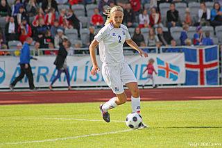 Guðrún Sóley Gunnarsdóttir American association football (soccer) player