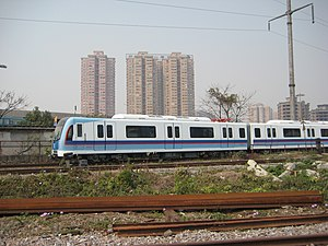 Linear motor - Guangzhou Metro L5 vehicle made by CSR Sifang Locomotive and Rolling Stock and Kawasaki Heavy Industries