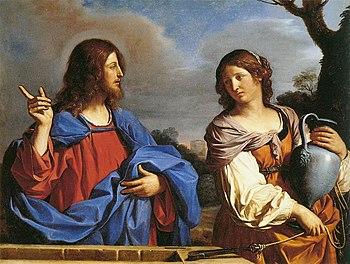 Guercino - Jesus and the Samaritan Woman at th...