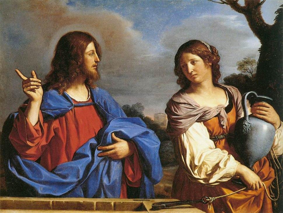 Guercino - Jesus and the Samaritan Woman at the Well - WGA10946